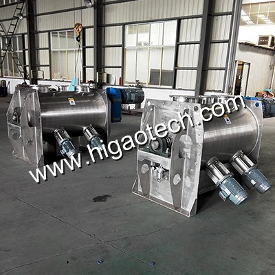 horizontal ribbon blender for powder blending